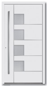 Haustür Model 6877-53 Glas Madras Pave weiß