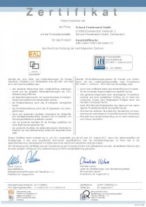 Urkunde ift Zertifikat
