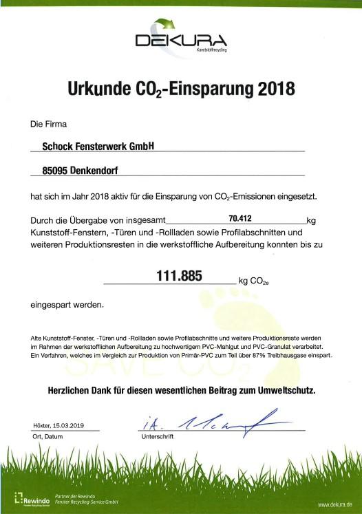 CO2 Einsparung 2018